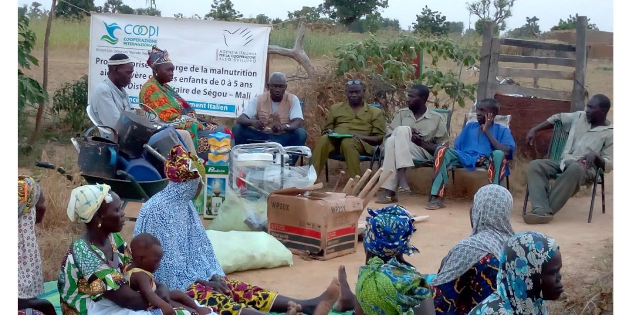 Mali: sensibilizzazione della comunità femminile nella lotta contro la malnutrizione