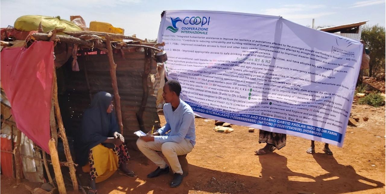 Somalia. Latrines improving health and sanitation in Baidoa.