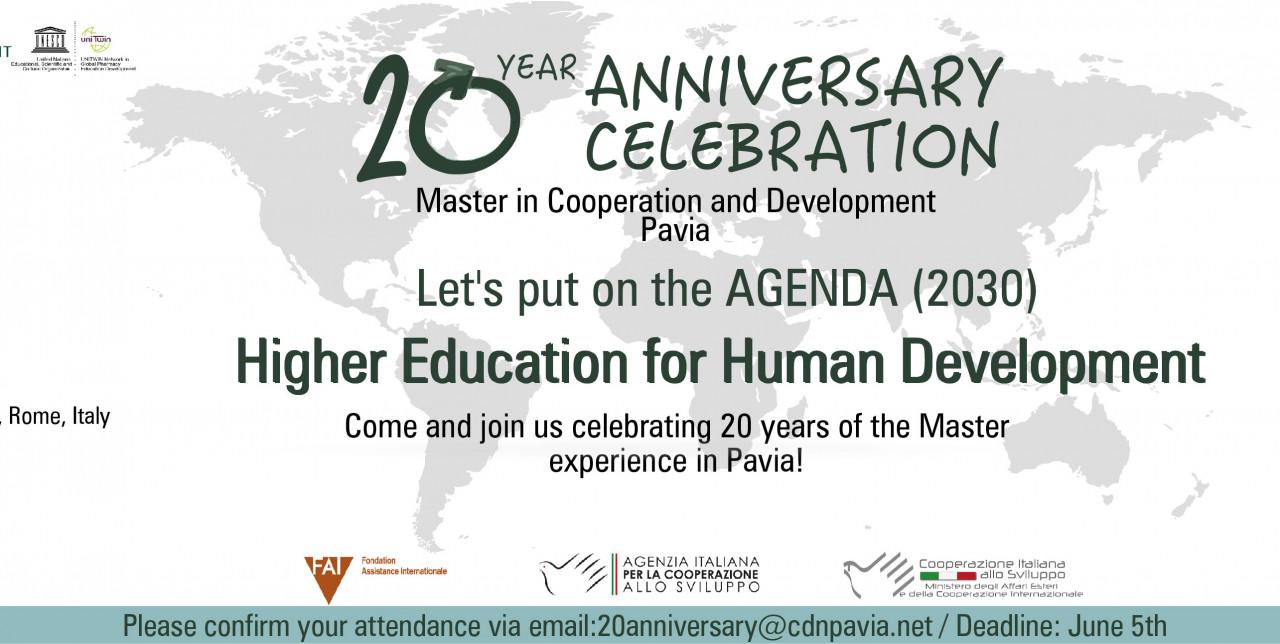 20° anniversario Master Cooperation and Development
