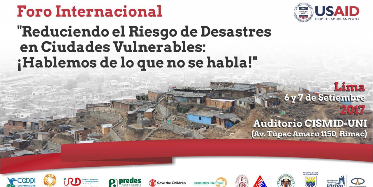 Forum Internazionale sulle sfide della riduzione del rischio disastri