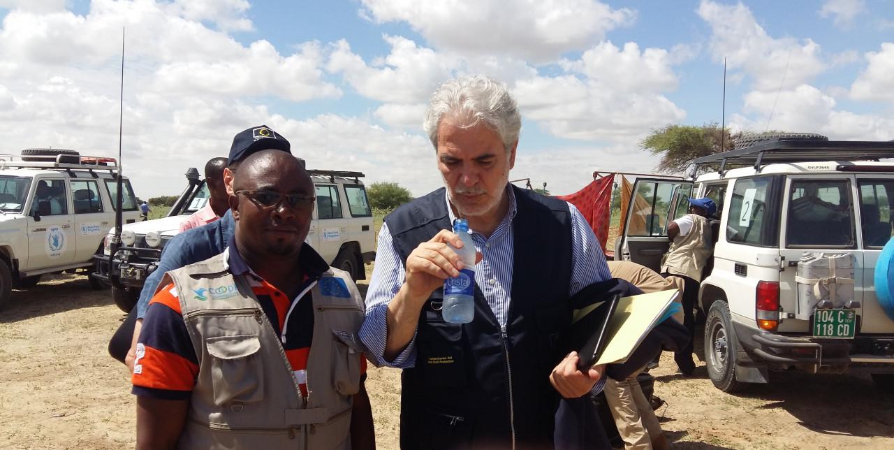 Il commissario europeo agli aiuti umanitari in visita a Bol, Ciad
