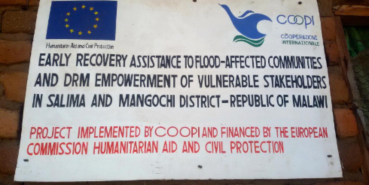 Malawi: assistenza post alluvione
